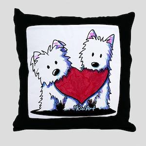 Heartfelt Westies Throw Pillow
