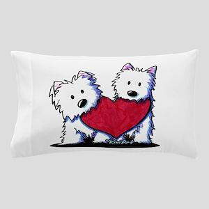 Heartfelt Westies Pillow Case