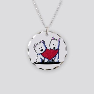 Heartfelt Westies Necklace Circle Charm