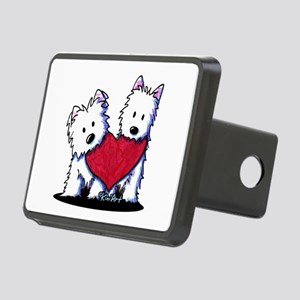 Heartfelt Westies Rectangular Hitch Cover