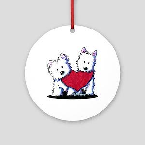 Heartfelt Westies Ornament (Round)