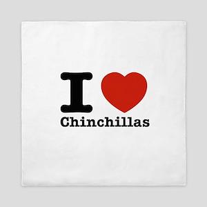 I Love Chinchillas Queen Duvet