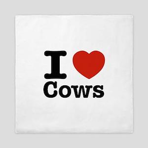 I Love Cows Queen Duvet