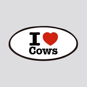 I Love Cows Patches