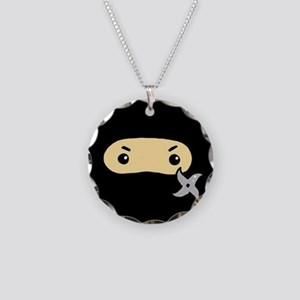Tiny Ninja Necklace Circle Charm