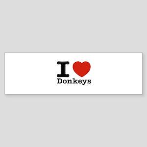 I Love Donkeys Sticker (Bumper)