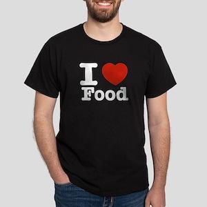 I Love Food Dark T-Shirt