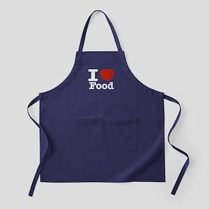 I Love Food Apron (dark)