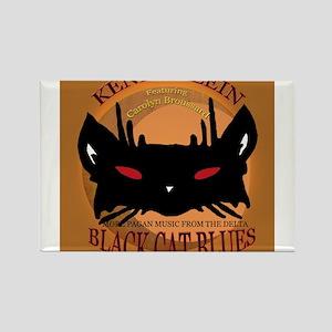 Black Cat Blues Cover Rectangle Magnet