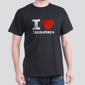 I Love Hamsters Dark T-Shirt