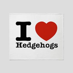 I Love Hedgehogs Throw Blanket