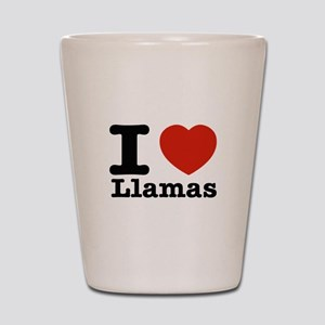 I Love Liamas Shot Glass