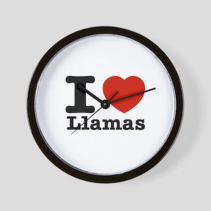 I Love Liamas Wall Clock