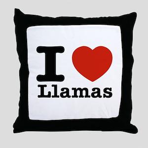 I Love Liamas Throw Pillow
