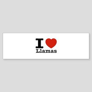 I Love Liamas Sticker (Bumper)