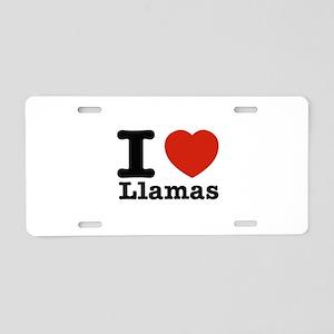 I Love Liamas Aluminum License Plate