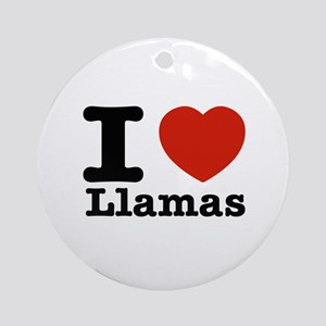 I Love Liamas Ornament (Round)
