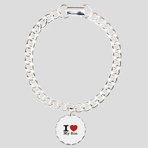 I Love My Son Charm Bracelet, One Charm
