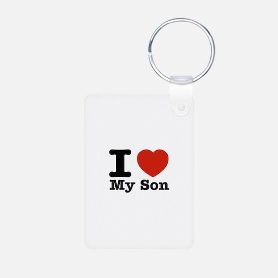 I Love My Son Aluminum Photo Keychain