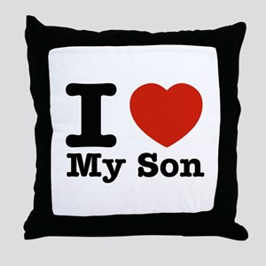I Love My Son Throw Pillow