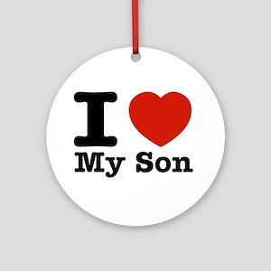 I Love My Son Ornament (Round)
