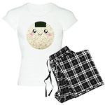 Cute Kawaii Rice Ball Women's Light Pajamas