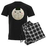 Cute Kawaii Rice Ball Men's Dark Pajamas