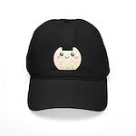 Cute Kawaii Rice Ball Black Cap