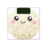 Cute Kawaii Rice Ball Square Sticker 3
