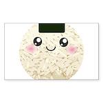 Cute Kawaii Rice Ball Sticker (Rectangle 10 pk)