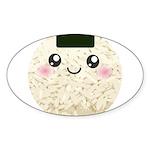 Cute Kawaii Rice Ball Sticker (Oval 50 pk)