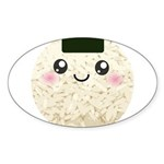 Cute Kawaii Rice Ball Sticker (Oval 10 pk)