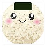 Cute Kawaii Rice Ball Square Car Magnet 3