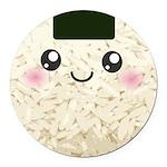 Cute Kawaii Rice Ball Round Car Magnet