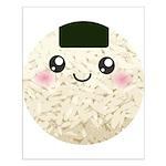 Cute Kawaii Rice Ball Small Poster