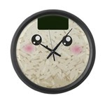 Cute Kawaii Rice Ball Large Wall Clock