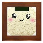 Cute Kawaii Rice Ball Framed Tile