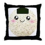 Cute Kawaii Rice Ball Throw Pillow