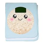 Cute Kawaii Rice Ball baby blanket