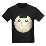 Cute Kawaii Rice Ball Kids Dark T-Shirt