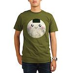 Cute Kawaii Rice Ball Organic Men's T-Shirt (dark)