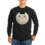 Cute Kawaii Rice Ball Long Sleeve Dark T-Shirt