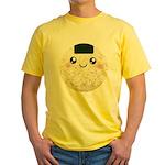 Cute Kawaii Rice Ball Yellow T-Shirt