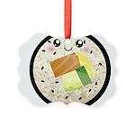 Cute Kawaii Sushi Roll Picture Ornament