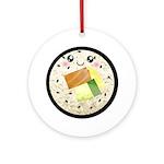Cute Kawaii Sushi Roll Ornament (Round)