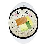 Cute Kawaii Sushi Roll Ornament (Oval)