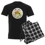 Cute Kawaii Sushi Roll Men's Dark Pajamas
