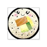 Cute Kawaii Sushi Roll Square Sticker 3