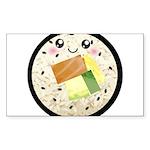 Cute Kawaii Sushi Roll Sticker (Rectangle 50 pk)