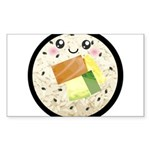 Cute Kawaii Sushi Roll Sticker (Rectangle)